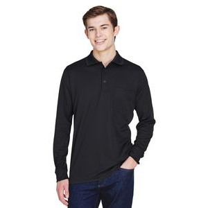 CORE 365 Adult Pinnacle Performance Long-Sleeve Piqué Polo with Pocket