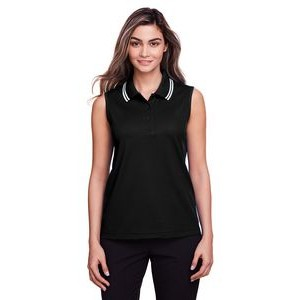 Devon and Jones Ladies' CrownLux Performance? Plaited Tipped Sleeveless Polo