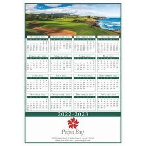 Full-Color Custom Single Sheet Wall Calendar