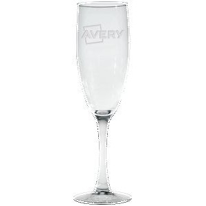 5.75 Oz. Nuance Collection Flute Glass - Etched