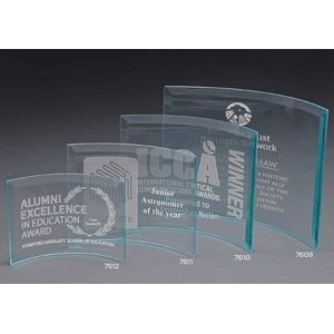 X-Large Curved Jade Crystal Prisma Award