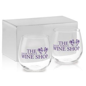 16.75 Oz. Stemless Red Wine Gift Set