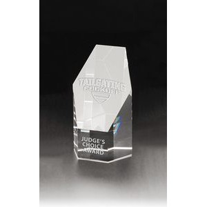 Small Hexagon Tower Optical Crystal Award