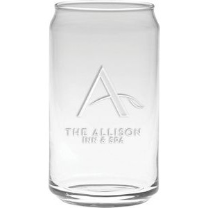 16 Oz. Soda Can Glass - Etched