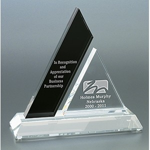 Ebony Mezzo Optical Crystal Award