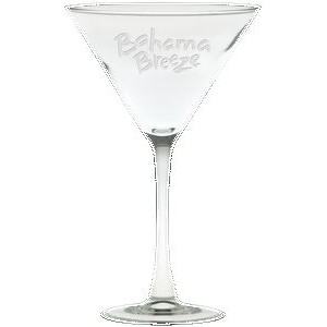 10 Oz. Classic Stem Large Martini Glass - Etched
