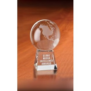 Atlantis Globe Optical Crystal Award