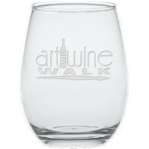 12 Oz. Stemless Wine Glass - Etched