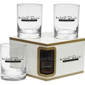 14 Oz. Premium Double Old Fashion Glasses Set of 4