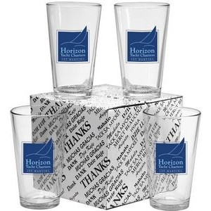 Thank You Mixing Glasses Set of 4