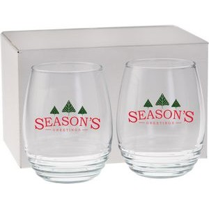 17 Oz. Vina Stemless Wine Gift Set
