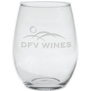 21 Oz. Stemless White Wine Glass - Etched