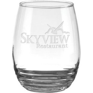 17 Oz. Eminence Stemless Red Wine Glass - Etched