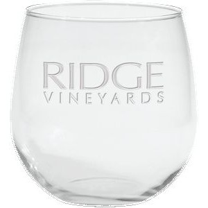 16.75 Oz. Stemless Red Wine Glass - Etched