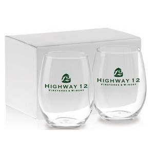 21 Oz. Stemless White Wine Gift Set