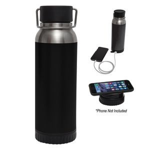22 Oz. Carter Stainless Steel Bottle With Wireless Charger And Power Bank