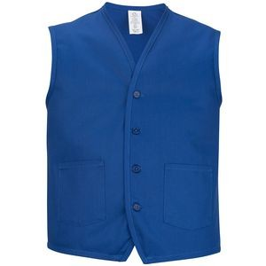 Twill Vest with Waist Pockets