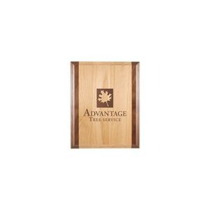 "8"" x 10"" Genuine Red Alder & Genuine Walnut Plaque"